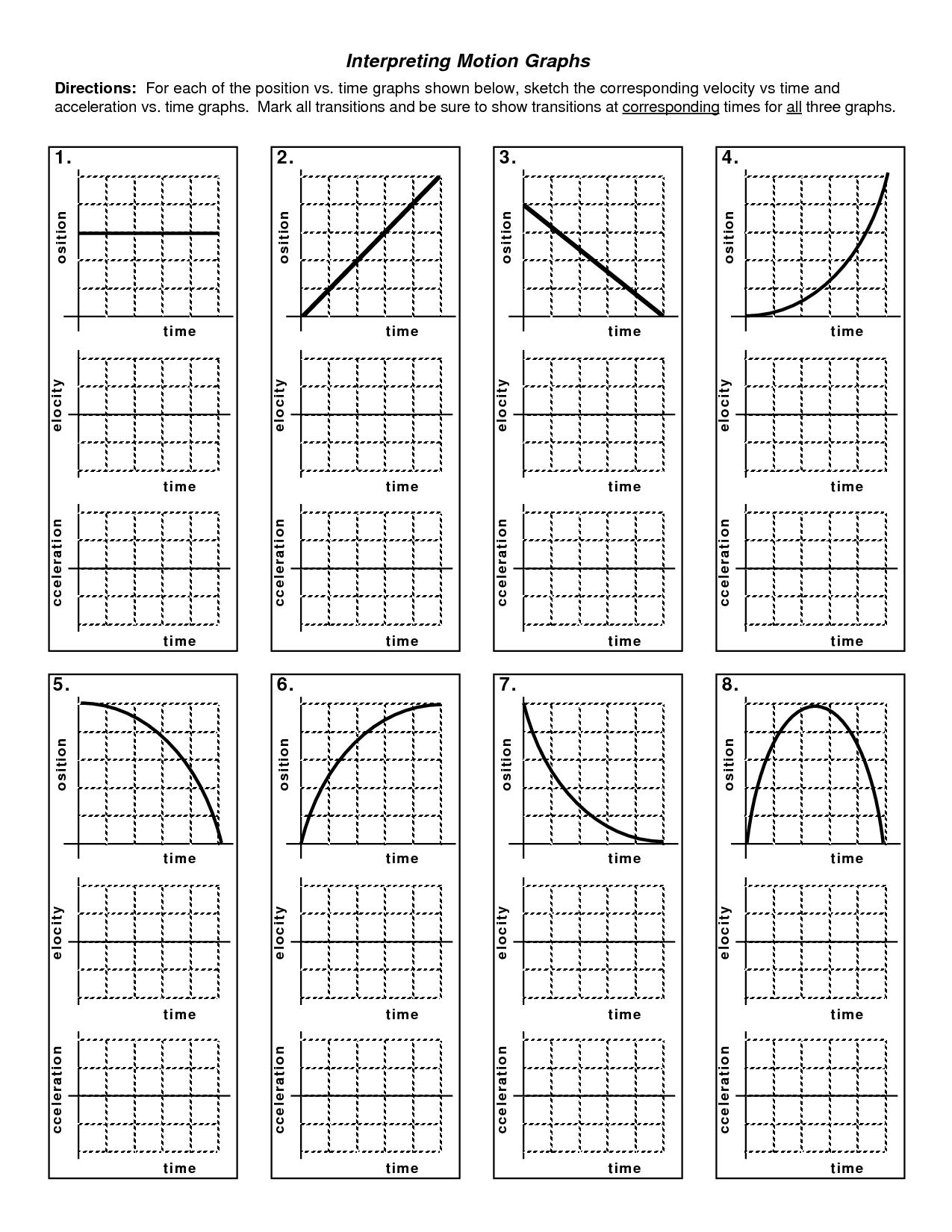 worksheet Graphing Acceleration Worksheet graphing motion worksheet garciniapremiums graphs laveyla com